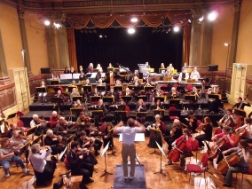 The Warriors rehearsal at Fremantle Town Hall